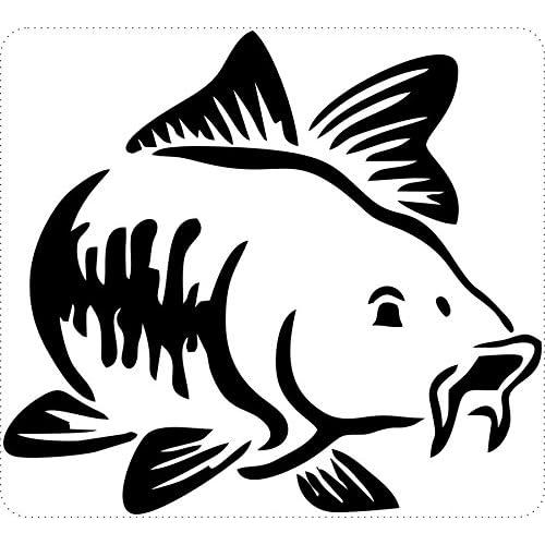 Autocollant sticker macbook laptop voiture moto pecheur peche poisson