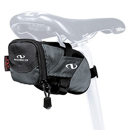 Norco Ottawa Mtb saddle bag Mini, Black, 8x 6x 14CM, 300ml 0256I by Norco