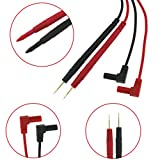 Qisuw For Multimeter Universal Probe Wire Pen Test Leads Gold-plated Needle Tip 10A