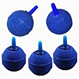 BlueMoo 5 PCS 1Inch Round Ball Air Bubble Stones Aerator for Pond or Aquarium Fish Tank Pump