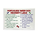 CafePress - Portuguese Water Dog Property Laws 2 Rectangle Mag - Rectangle Magnet, 2