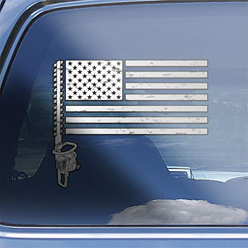 American Flag Landscaping Decal Sticker