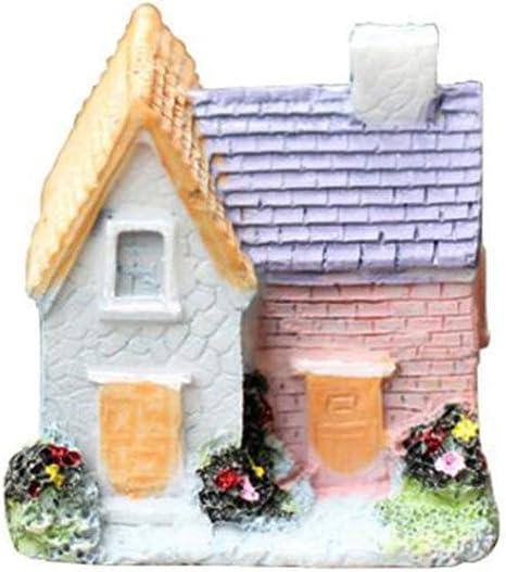Fairy Garden Miniature Stone House Figurine Craft Micro Landscape Ornament /&qi