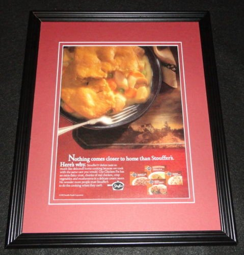 1992-stouffers-frozen-foods-pot-pie-11x14-framed-original-advertisement