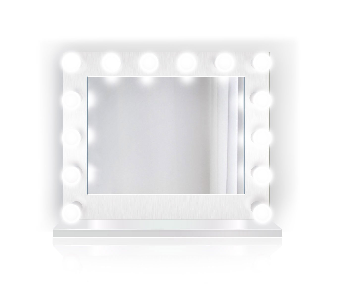 31 inch x 25 inch Lighted Hollywood Vanity Mirror   LED Makeup Mirror  Table Top Or Wall Mount   Plug-in