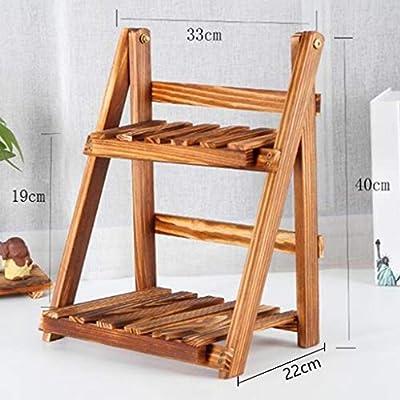 WOAINI Soporte de Mesa de bambú Natural de sobremesa, repisa de ...