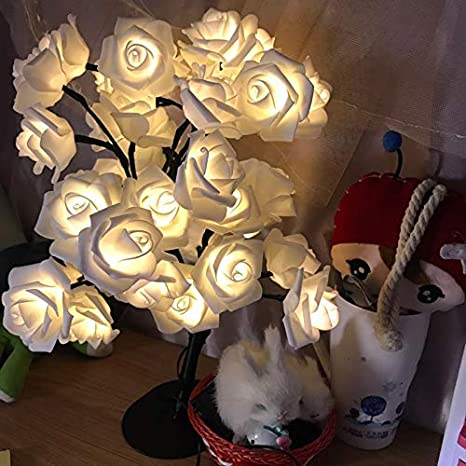 Amazoncom Room Decoration Rose Desk Lampchristmas Lights