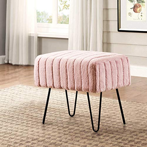 (Home Soft Things Super Mink Ottoman Bench 19