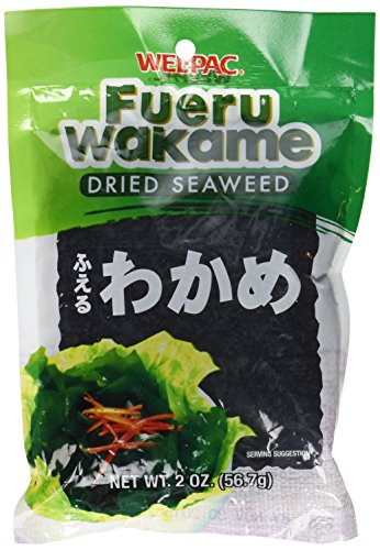 Wel-Pac - Fueru Wakame (Dried Seaweed) Net Wt. 2 Oz. (Pack of 2) (Vegetable Wakame Sea)
