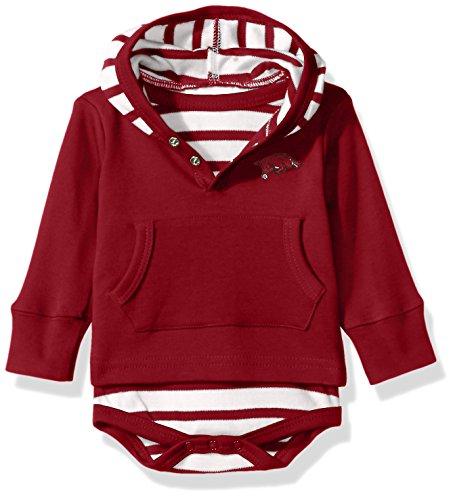 Ncaa Baby Creepers Shop - Two Feet Ahead NCAA Arkansas Razorbacks Children Unisex Stripe Hooded Creeper,18Mo,Crimson