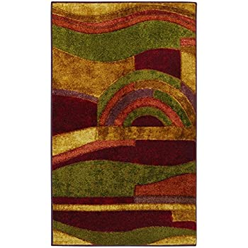 Mohawk Home New Wave Picasso Printed Rug,2'6x3'10,Wine