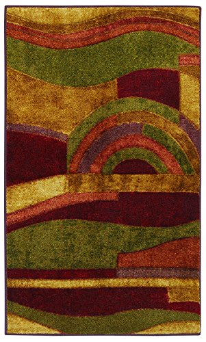Mohawk Home New Wave Picasso Printed Rug,  2'6x3'10,  Wine