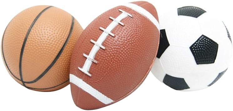 YeahiBaby Mini Pelota de Baloncesto Inflable Fútbol y Rugby Fútbol ...