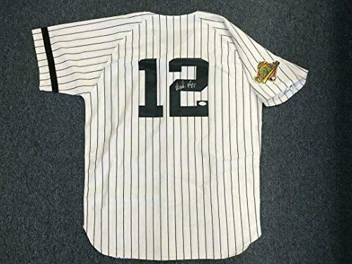 (WADE BOGGS Signed Jersey Autographed JSA COA)
