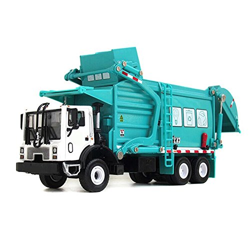 1/24 Scale Diecast Vehicle Material Transporter Garbage Truck Construction Toys Children Gift Blue ()