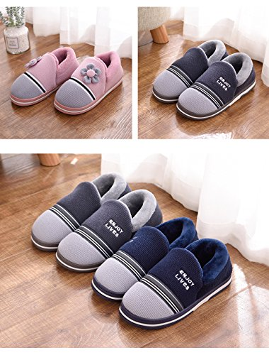 Home Couple Cotton shoes Non-slip Thicker bottom Keep warm Men Indoor Cotton-padded shoes Gray 8k4K0
