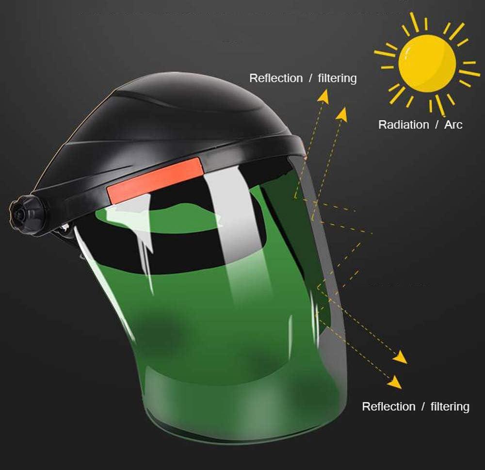 resistente alle alte temperature Wanjia Saldatura viso protezione contro il sudore a protezione contro il sudore resistente agli urti protezione viso montata sulla testa