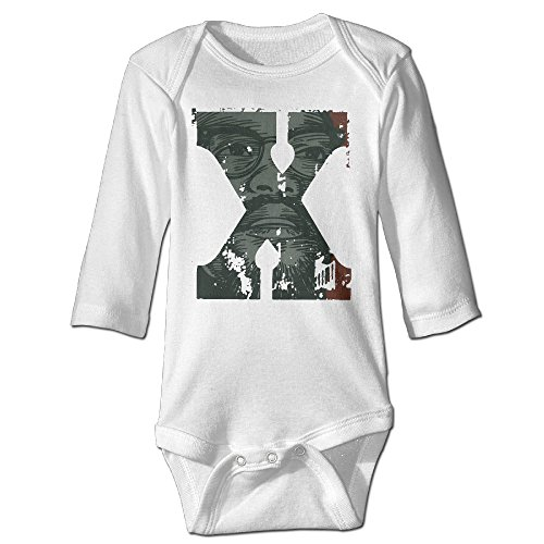 [Raymond Malcolm X Graphic Long Sleeve Jumpsuit Outfits White 18 Months] (Makers Mark Costume)