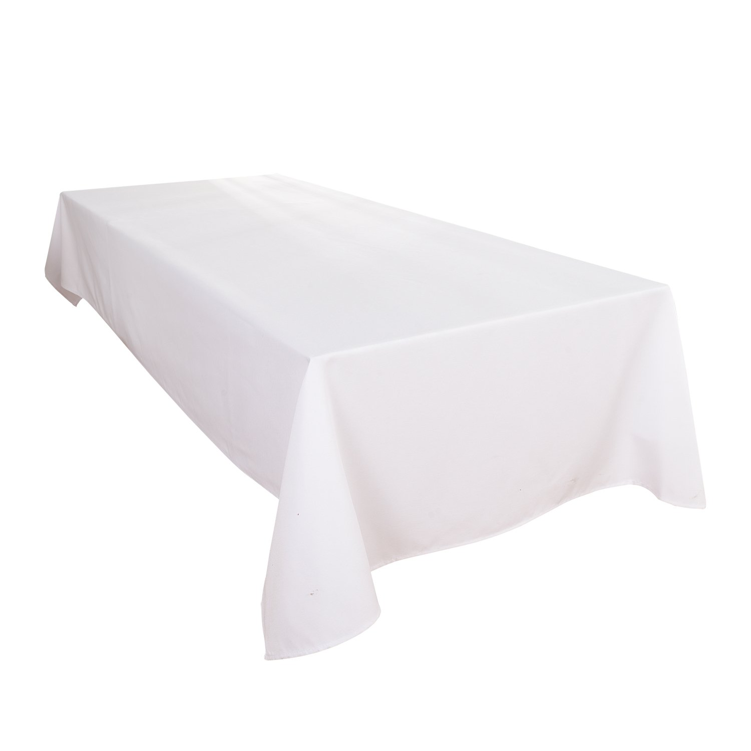 HIGHFLY Linen Rectangle Tablecloth 60 X 84 Inch Waterproof White Tablecloth for Dining room Restaurant