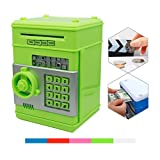 Money Banks, Netspower Security Piggy bank Digital Electronic Money Bank for Kids, Mini ATM Coin Saving Banks,Coin Saving Boxes,Toys Gifts Birthday Gifts for Kids - Green by Netspower