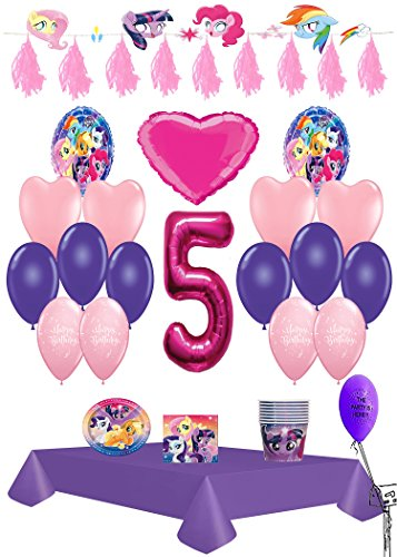 My Little Pony 5th Birthday Ultimate Party Pack 61pc.