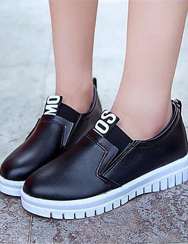 Red negro semicuero Zapatos Mujer De Gyht mocasines Zq Cn39 exterior Blanco us8 Casual Rojo plataforma Uk6 Eu39 creepers SqwnOxvC