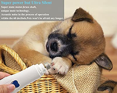 Pet Nail Grinder - Lifepul(TM) Electric Nail Grinder For Dog and Cat - Gentle Paws Grooming/Trimming - Completely Painless - Easy and Safe - Durable Design