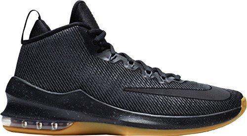 Galleon - NIKE Men s Air Max Infuriate Mid Premium Basketball Shoes  (Black Grey 1dcefa49f