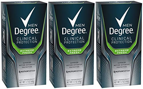 Degree Men Clinical and Antiperspirant and Deodorant, Extreme Fresh 1.7 Ounce (Pack of 3) (Degree Clinical Protection Men)
