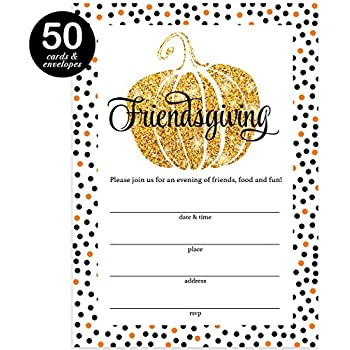 amazon com thanksgiving dinner invitations envelopes pack of 25