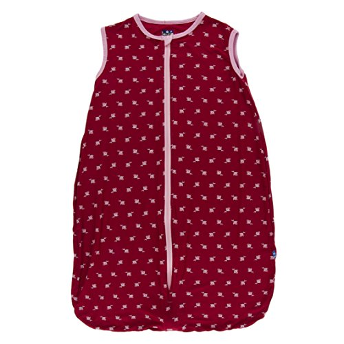 Kickee Pants Little Girls Print Lightweight Sleeping Bag - Candy Apple Rose Bud, 0-6 Months
