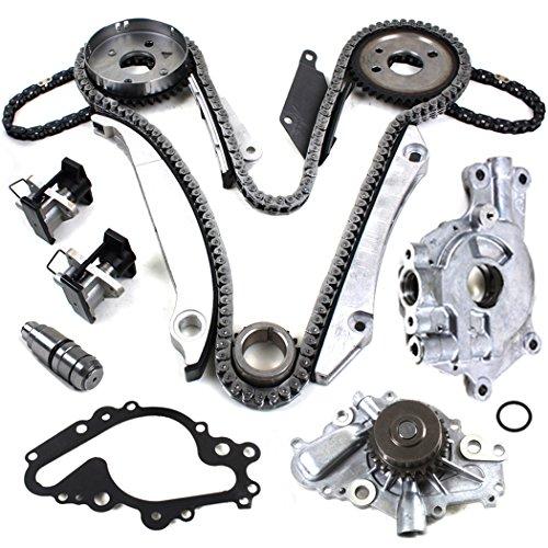 - TK8050PTABWPOP Brand New (180 LINKS) Engine Timing Chain Kit, Primary Tensioner, Water Pump Set, and Oil Pump Set EER