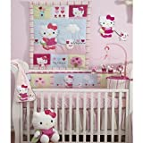Lambs and Ivy Bedtime Originals Hello Kitty and Puppy 4-Piece Baby Crib Bedding Set, Pink, Baby & Kids Zone
