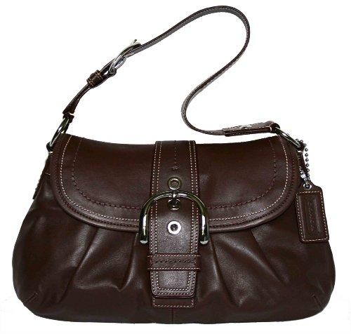 leated Buckle Flap Satchel (Soho Flap Handbag)