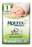 MOLTEX Nature no.1, Größe 1, 2-4kg, Ökowindel Newborn, 23 Stück thumbnail