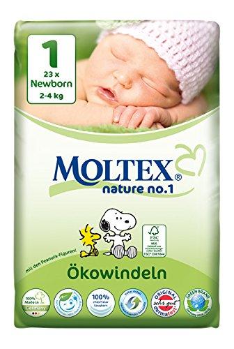 moltex Nature – No.1 ökowindel Newborn, 23 unidades)