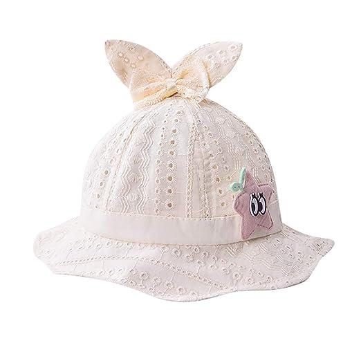 c3aa63df5574c Toddler Baby Girls Bucket Sun Hat Cuekondy Cute Cartoon Ear Star Wide Brim  Reversible Summer Beach
