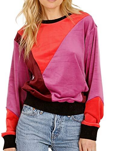 (Splendid X Margherita Missoni Velluto Pullover Sweater Borgogna)