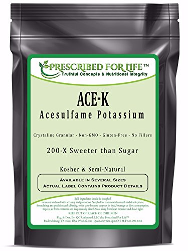 Acesulfame Potassium Ace K Semi Natural Sweetener