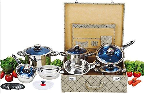 ROYAL JOLTA 16 teiliges acero en maletín apto para cocinas ...