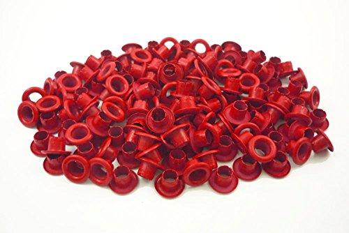 Red Grommets - 150pcs 4mm 5/32