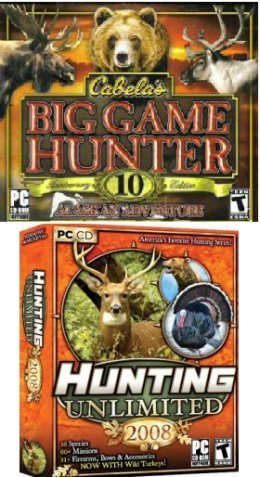 Hunting 2 Pack: Cabela's Big Game Hunter 10th Anniversary + Hunting Unlimited 2008