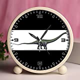 Alarm Clock, Bedroom Tabletop Retro Portable Clocks with Nightlight Custom designs Dinosaurs 36_Supersaurus dinosaur