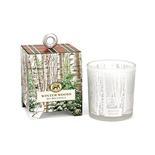 Michel Design Works Gift Boxed Soy Wax Candle, Winter Woods, 6.5 oz