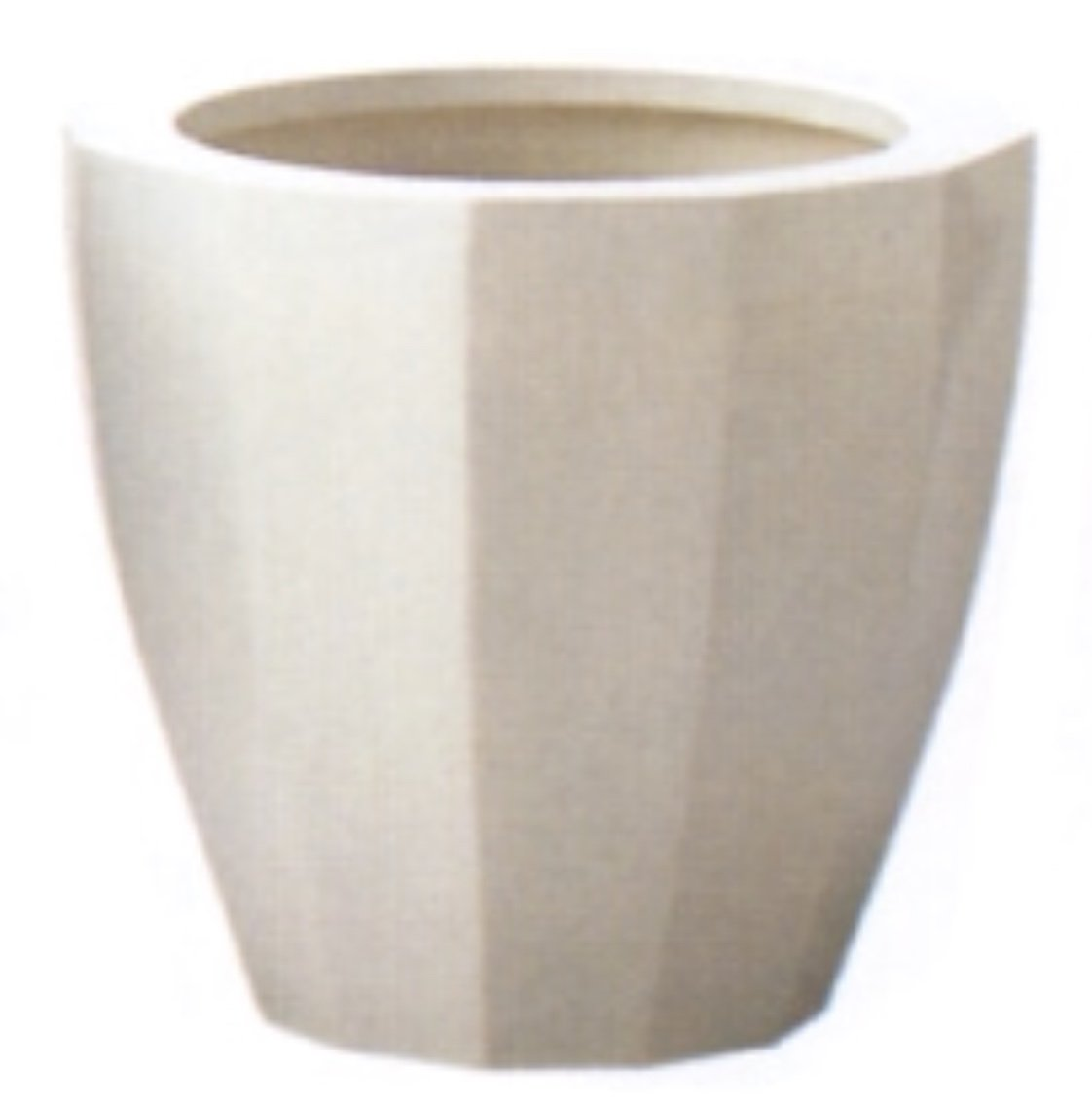 アドミナ 鉢カバー 10号用 47cm ホワイト【ネオモダン N-12】 陶器 信楽焼き 穴なし おしゃれ B079W3ZWCV 10号|ホワイト ホワイト 10号