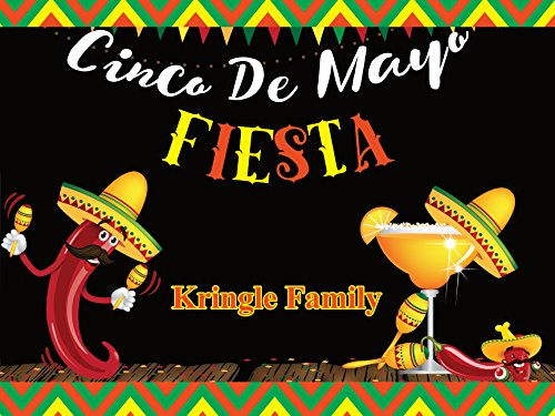 Custom Cinco De Mayo Fiesta Banner Mexican Holiday Personalized Poster - size 24x36, 48x24, 48x36; Party Banner Wall Décor, Handmade Party Supply Poster Print