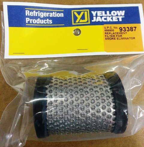 Element Cleaner - Yellow Jacket 93387 Oil Exhaust Smoke Eliminator Replacement Filter for SuperEvac vacuum Pump