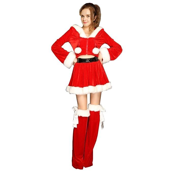 Amazon.com: Num & Liky Mujer Rojo Sexy traje Customes dulce ...