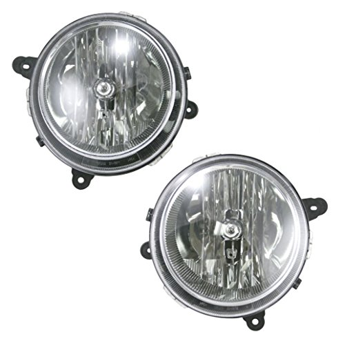 Front Headlights Headlamps Lights Lamps Pair Set of 2 for Jeep Compass Patriot