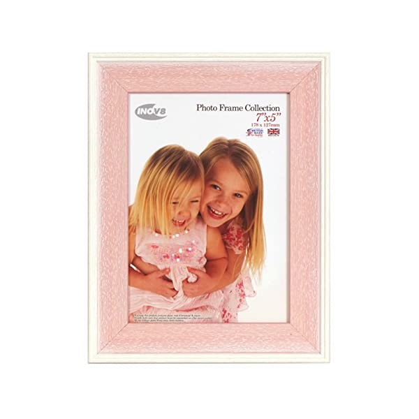 Inov8 British Made Picture/Photo Frame, 7X5 inch, Austen Pink Wash, Pack of 4